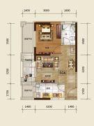 吉林昌邑万达广场1室1厅1卫50--55平方米户型图