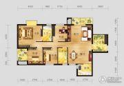 恩施国际商贸城4室2厅2卫134平方米户型图