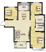 懋鑫福城3室2厅2卫0平方米户型图