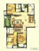 高成天鹅湖3室2厅2卫138平方米户型图