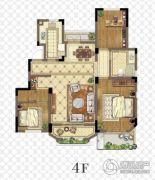 金浦御龙湾3室2厅1卫106平方米户型图