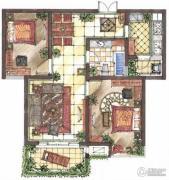 九洲新世界2室2厅1卫88平方米户型图