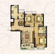 恒大御景湾3室2厅1卫109平方米户型图