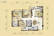 汇川喜来公社3室2厅2卫99平方米户型图