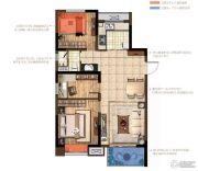 中交锦致3室2厅1卫90平方米户型图