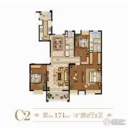 风尚米兰3室2厅2卫0平方米户型图