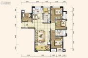 旭阳台北城3室2厅2卫109平方米户型图