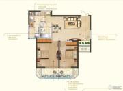 苏宁睿城2室2厅1卫94平方米户型图