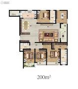 东润泰和5室2厅3卫200平方米户型图