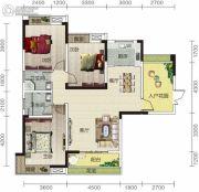 宏信依山郡3期3室2厅2卫128平方米户型图