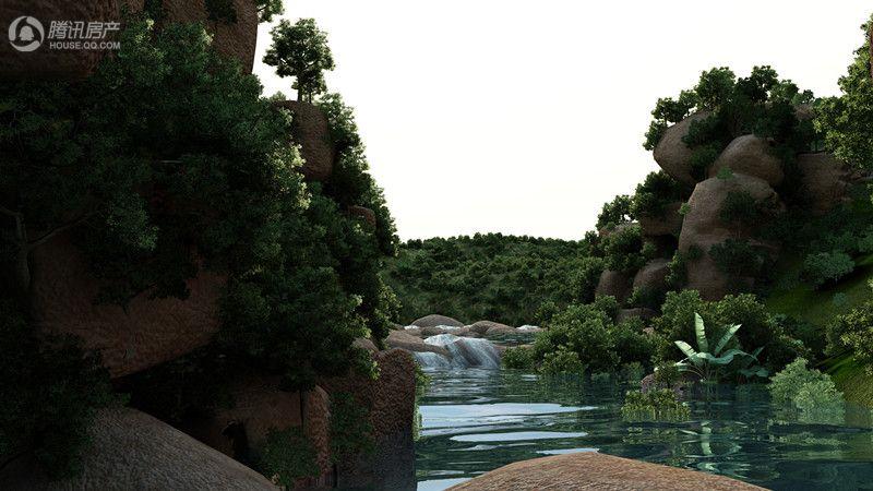 御玺山大峡谷效果图