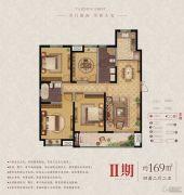 东润首府 高层4室2厅2卫169平方米户型图