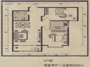 舜天嘉园2室2厅1卫86平方米户型图