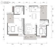 方直星耀国际3室2厅3卫144平方米户型图