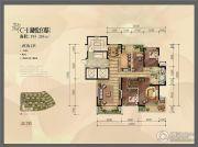 金地湖城大境4室2厅2卫195--205平方米户型图