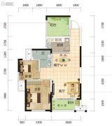 筑梦星园3室2厅1卫84平方米户型图