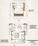长融人和春天2室2厅1卫80平方米户型图