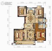 中梁・悦荣府4室2厅2卫138平方米户型图