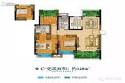 康桥悦城3室2厅2卫120平方米户型图