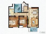 虹锦湾2室2厅1卫98平方米户型图
