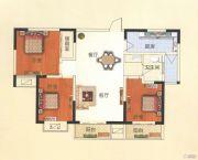 天鹅第一城3室2厅1卫116平方米户型图