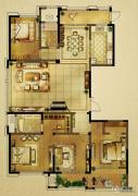 山水和园4室2厅2卫0平方米户型图