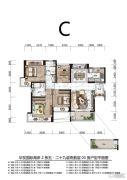 华发国际海岸3室2厅2卫0平方米户型图