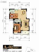 统建新干线2室2厅1卫78--80平方米户型图