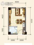 中天东方财巢大厦1室1厅1卫36--37平方米户型图
