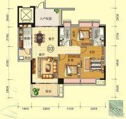 天鹅湾3室2厅2卫123平方米户型图