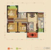中海锦苑3室2厅1卫95平方米户型图