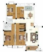 水岸帝景 高层3室2厅2卫136平方米户型图