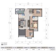 医大广场3室2厅2卫93平方米户型图