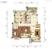 芙蓉万国城MOMA3室2厅2卫129平方米户型图