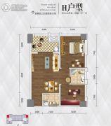 英祥・春天广场2室1厅1卫72平方米户型图