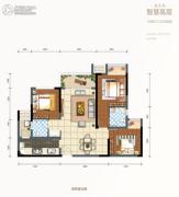 金科天元道2室2厅1卫74平方米户型图