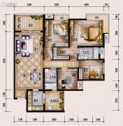 保利西海岸4室2厅2卫162平方米户型图