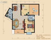 龙城华府2室2厅1卫89平方米户型图