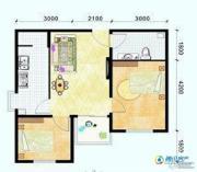 滨海新城2室1厅1卫67平方米户型图