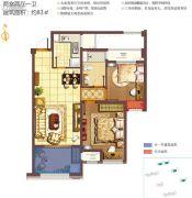 无锡孔雀城2室2厅1卫83平方米户型图