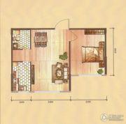 卓扬中华城1室1厅1卫55平方米户型图