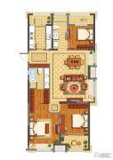 公元世家3室2厅2卫125平方米户型图