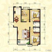 众和凤凰城3室2厅2卫122平方米户型图