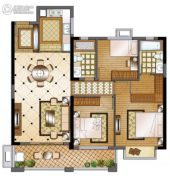 华强城3室2厅2卫122平方米户型图