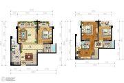 IBOX-部落阁3室2厅3卫92平方米户型图