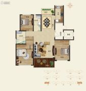 怡海龙湖壹号3室2厅2卫0平方米户型图