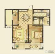 华润橡树湾1室2厅1卫95平方米户型图