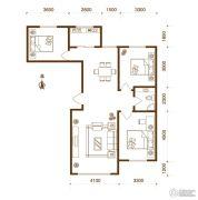 物华兴洲苑・风尚3室2厅1卫0平方米户型图
