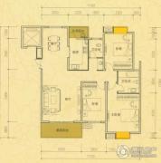 雅士林欣城3室2厅2卫138平方米户型图
