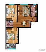 华普城2室2厅1卫83平方米户型图